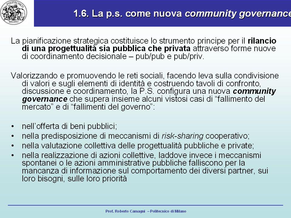 Prof. Roberto Camagni – Politecnico di Milano