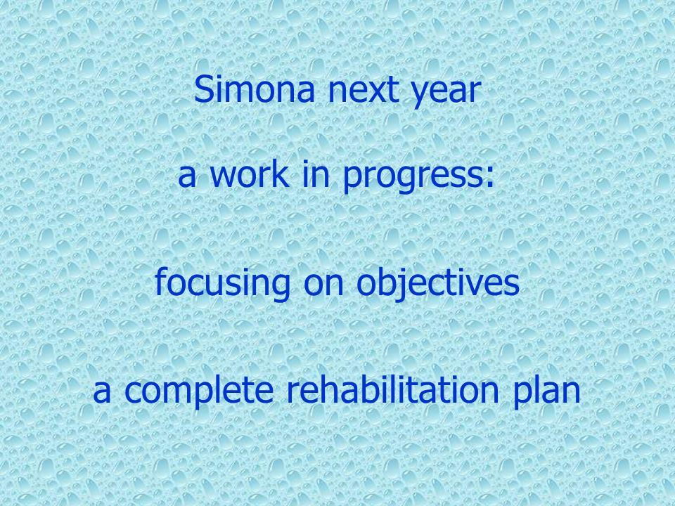 focusing on objectives a complete rehabilitation plan