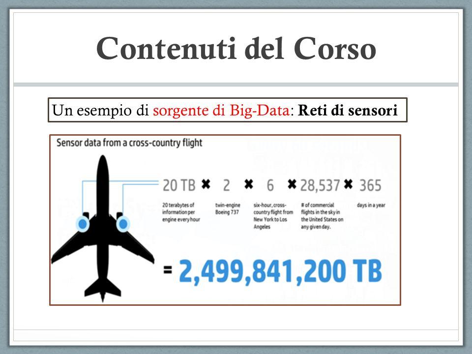 Un esempio di sorgente di Big-Data: Reti di sensori