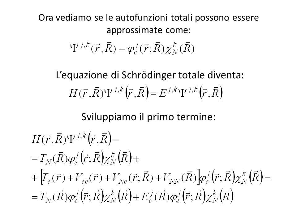 L'equazione di Schrödinger totale diventa: