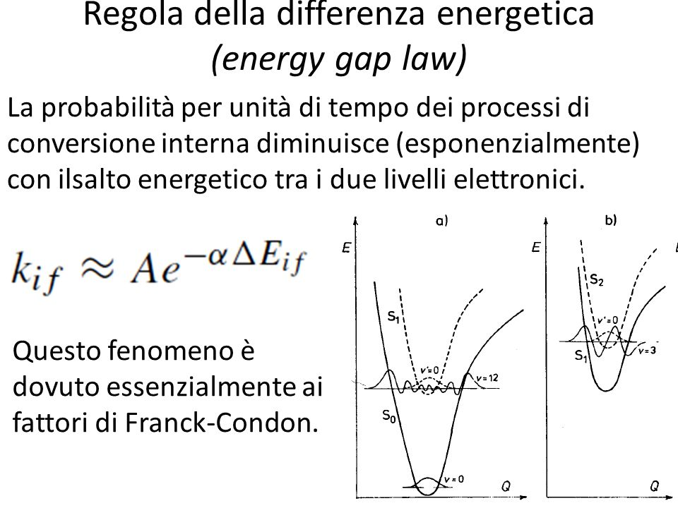 Regola della differenza energetica (energy gap law)