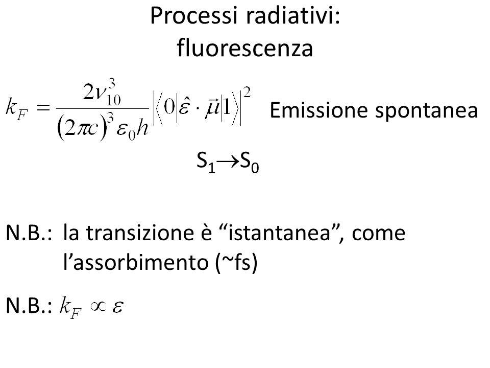 Processi radiativi: fluorescenza