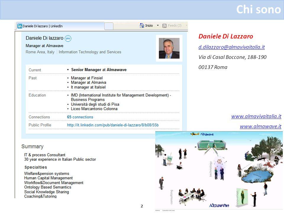 Chi sono Daniele Di Lazzaro d.dilazzaro@almavivaitalia.it