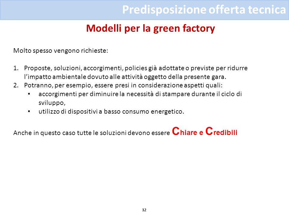 Modelli per la green factory