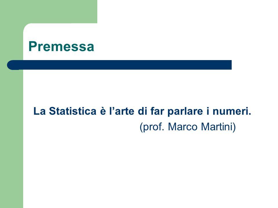La Statistica è l'arte di far parlare i numeri.