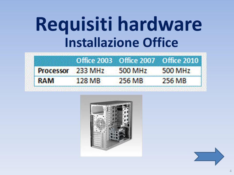 Requisiti hardware Installazione Office