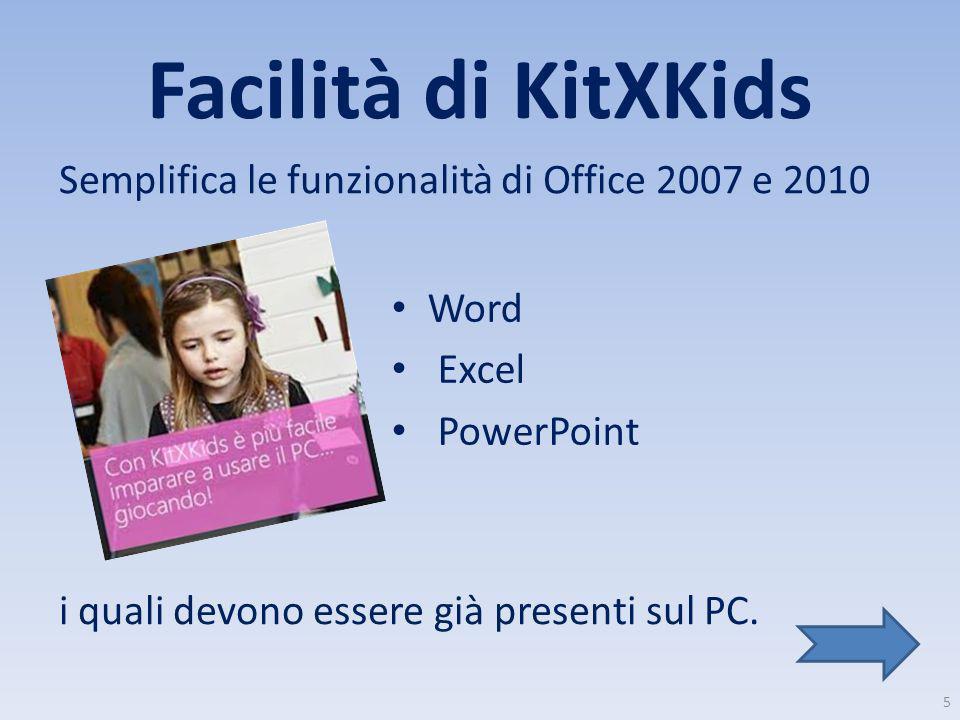 Facilità di KitXKids Semplifica le funzionalità di Office 2007 e 2010