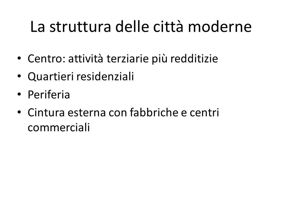 La struttura delle città moderne