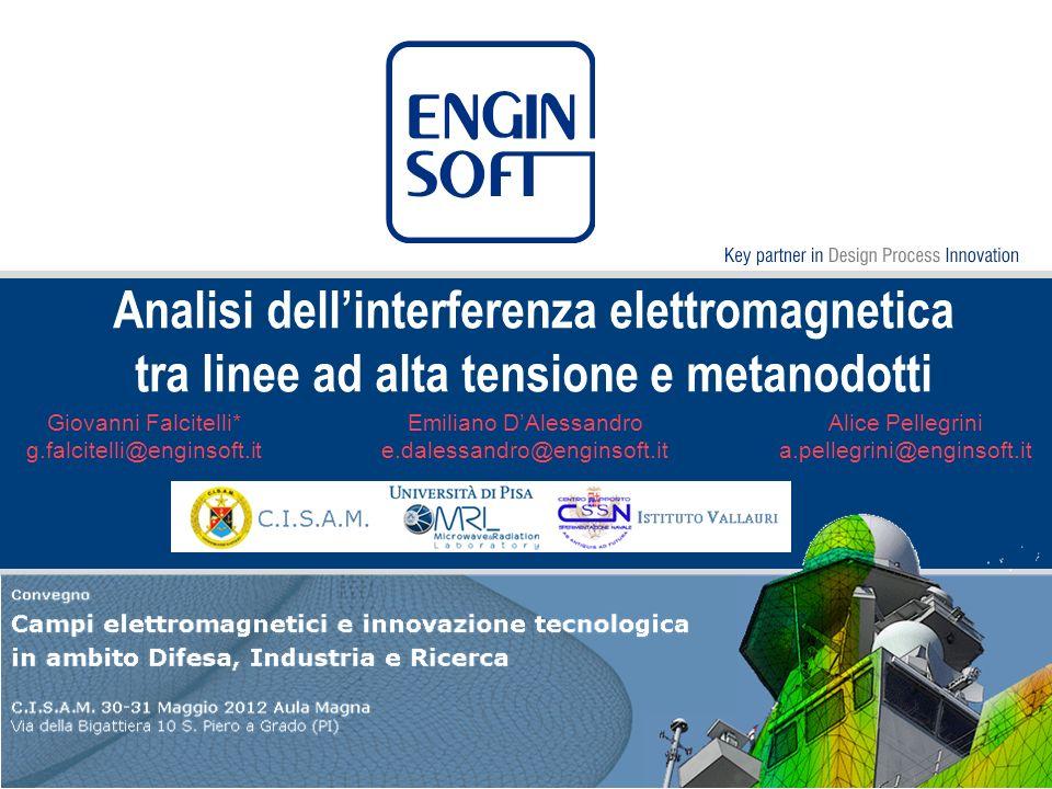 Analisi dell'interferenza elettromagnetica tra linee ad alta tensione e metanodotti