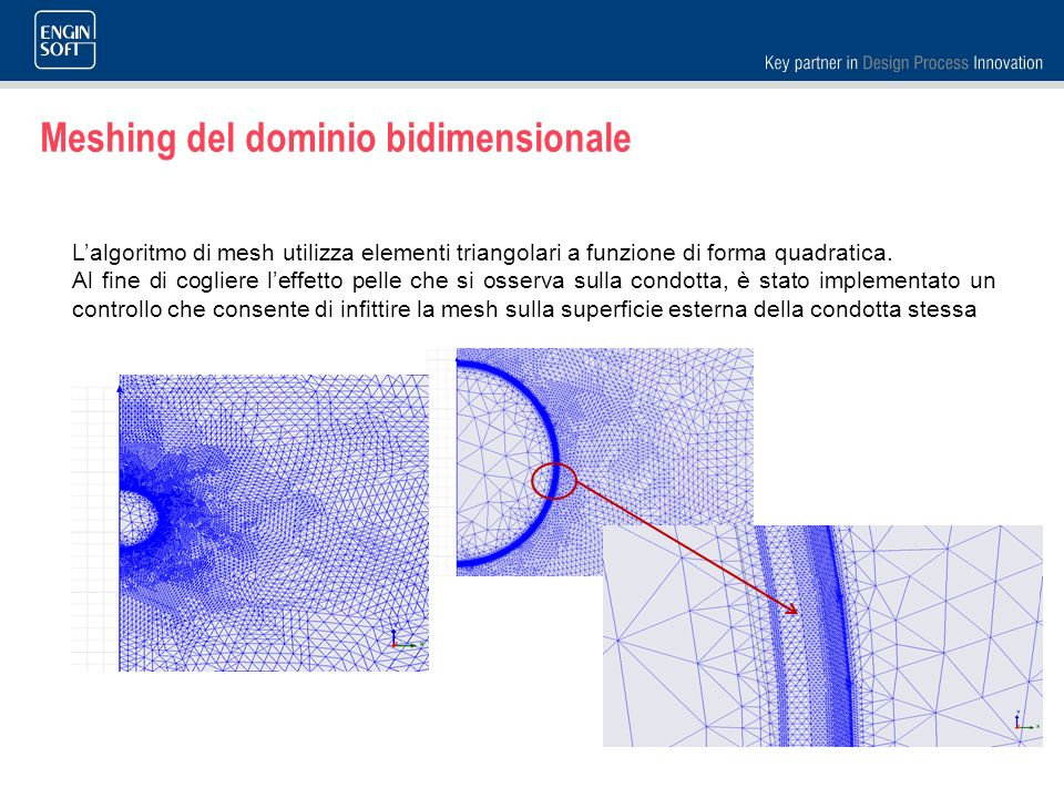 Meshing del dominio bidimensionale