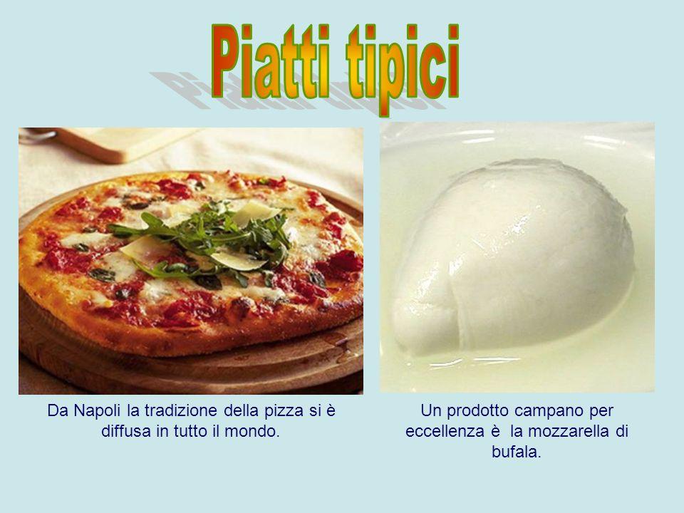 Piatti tipici Da Napoli la tradizione della pizza si è diffusa in tutto il mondo.