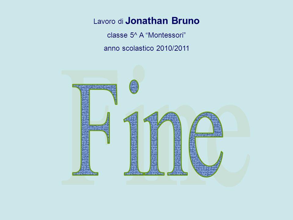 Fine Lavoro di Jonathan Bruno classe 5^ A Montessori