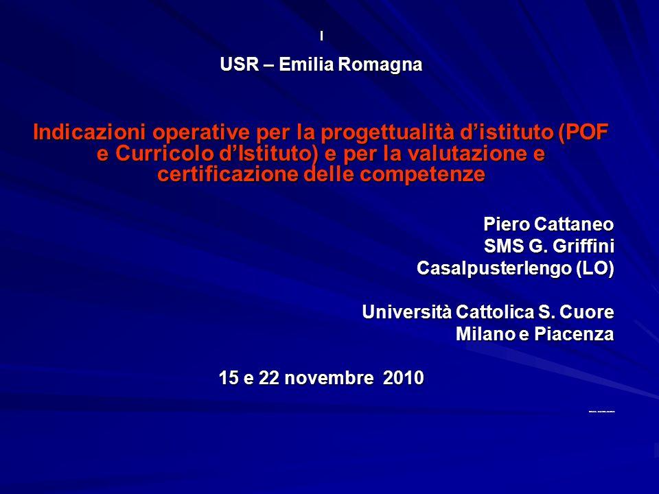 I USR – Emilia Romagna.