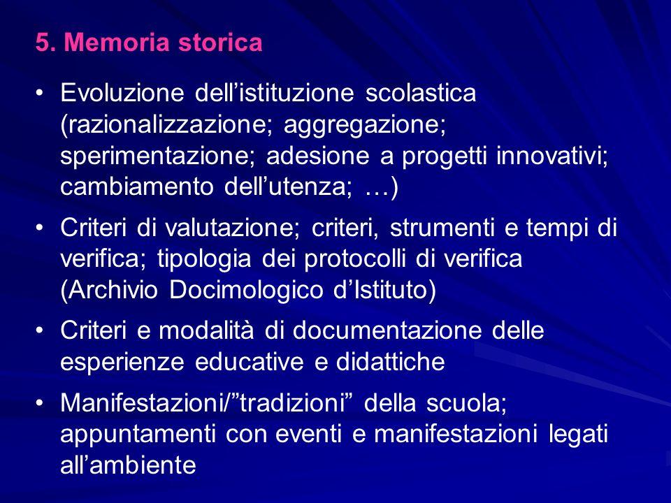 5. Memoria storica
