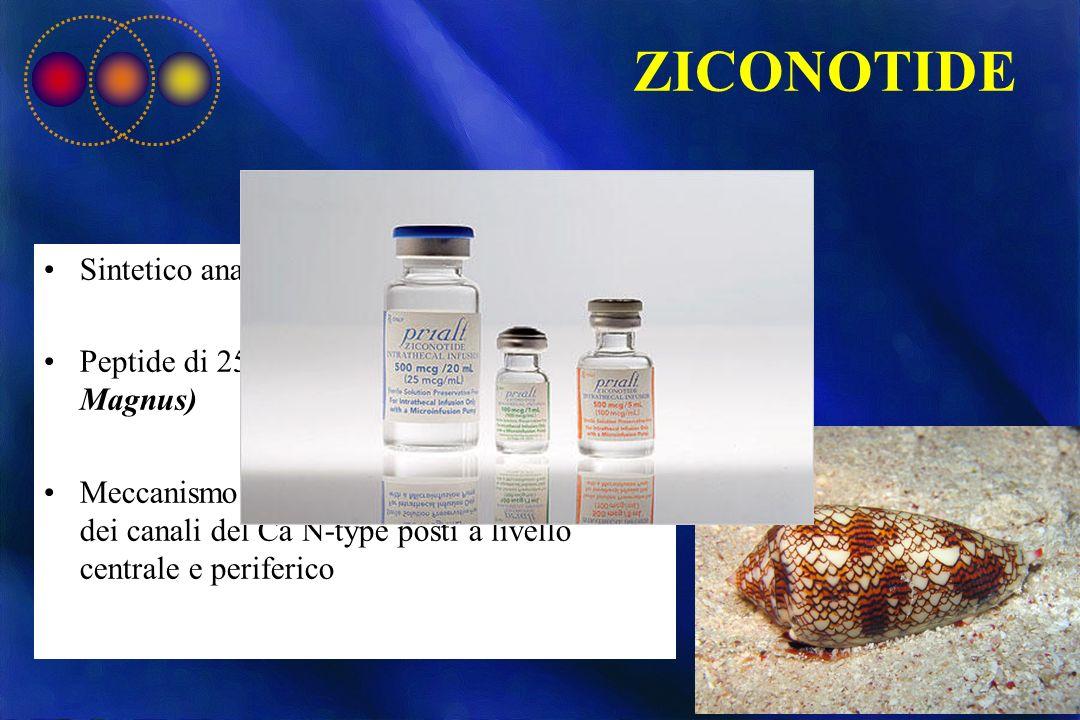ZICONOTIDE Sintetico analogo di ω-conotossina