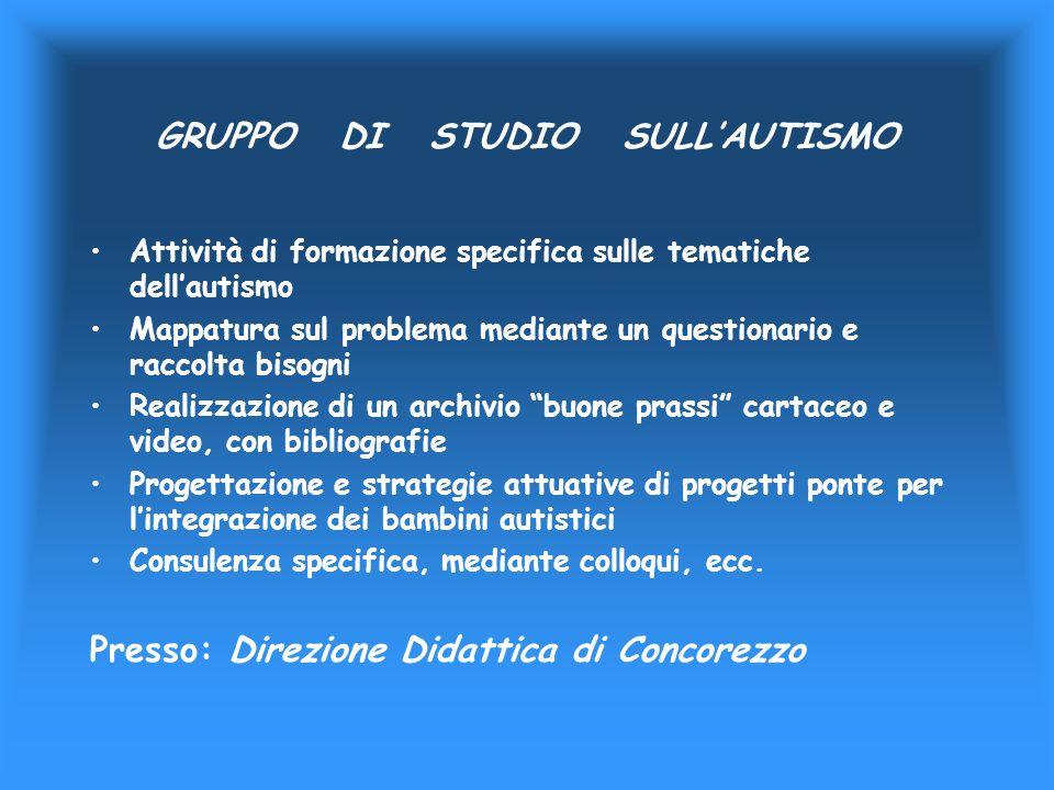 GRUPPO DI STUDIO SULL'AUTISMO