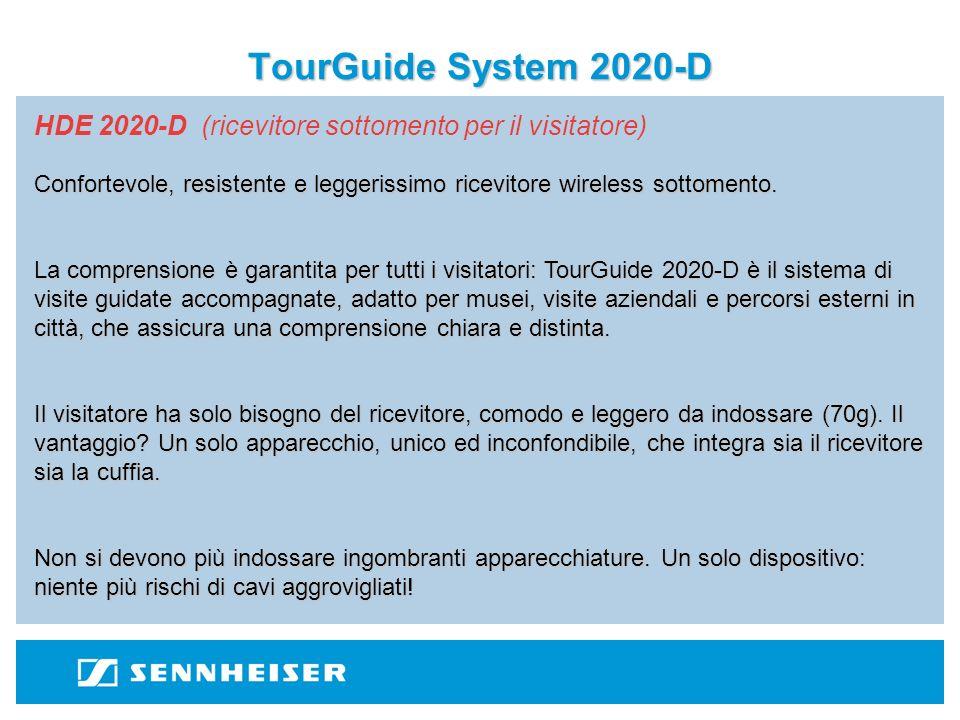 TourGuide System 2020-D HDE 2020-D (ricevitore sottomento per il visitatore)