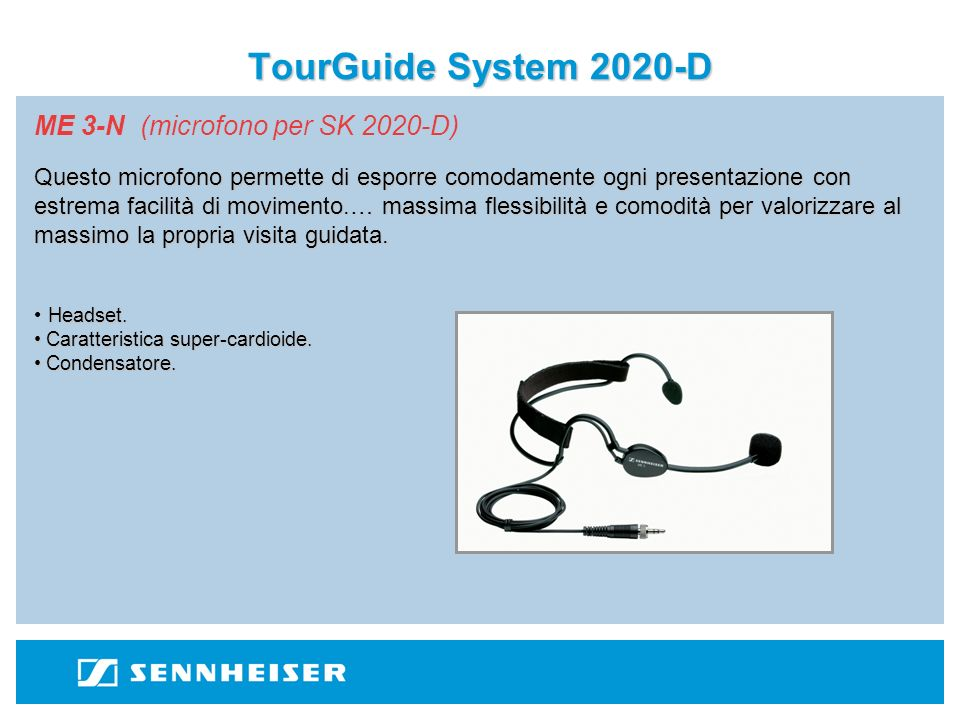 TourGuide System 2020-D ME 3-N (microfono per SK 2020-D)