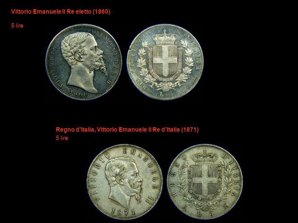 Vittorio Emanuele II Re eletto (1860) 5 lire