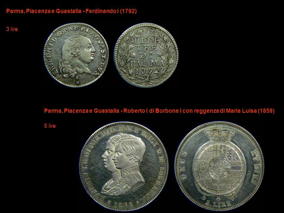 Parma, Piacenza e Guastalla - Ferdinando I (1792) 3 lire
