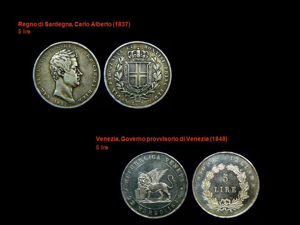 Regno di Sardegna, Carlo Alberto (1837) 5 lire