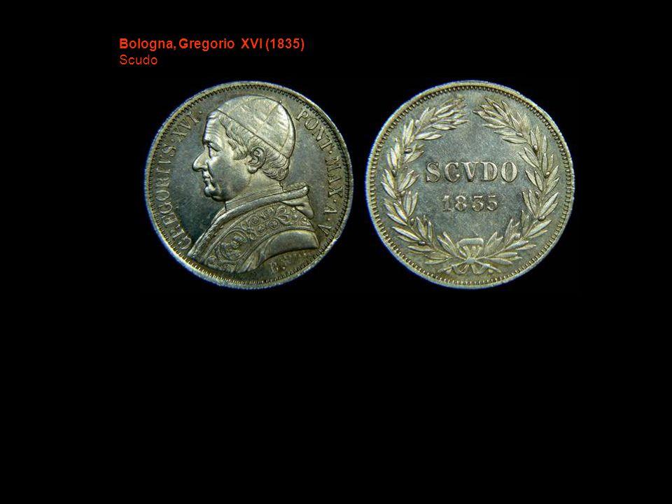 Bologna, Gregorio XVI (1835) Scudo