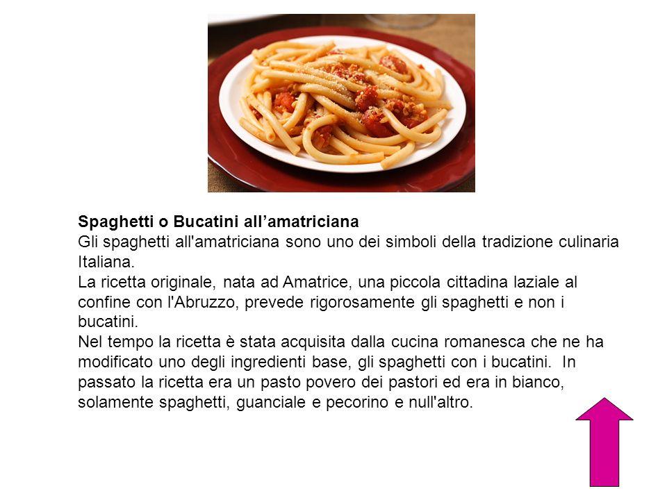 Spaghetti o Bucatini all'amatriciana