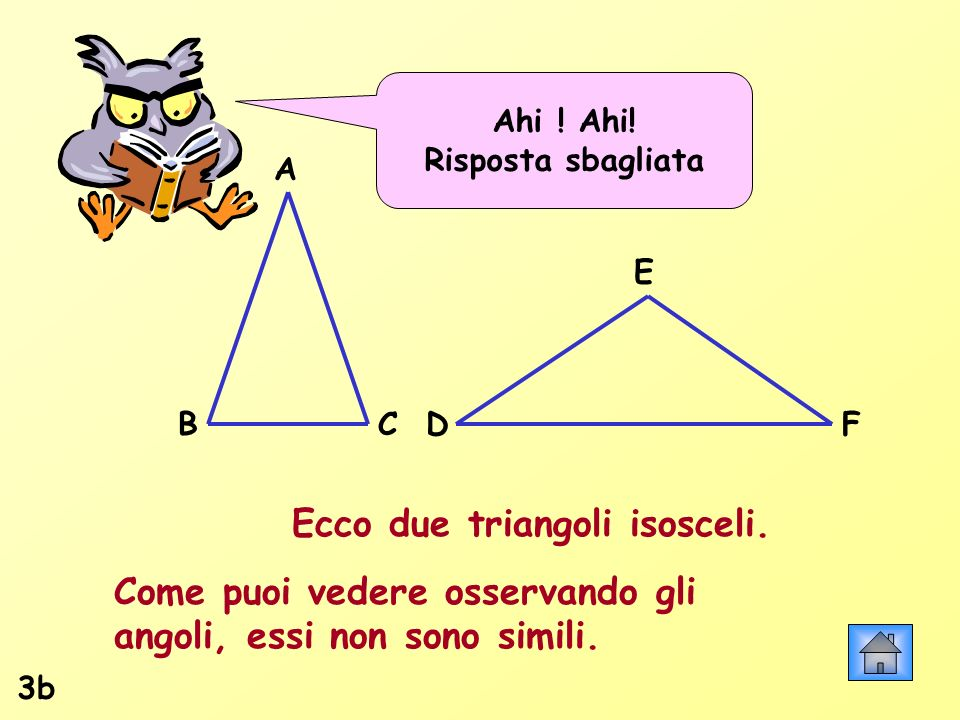 Ecco due triangoli isosceli.