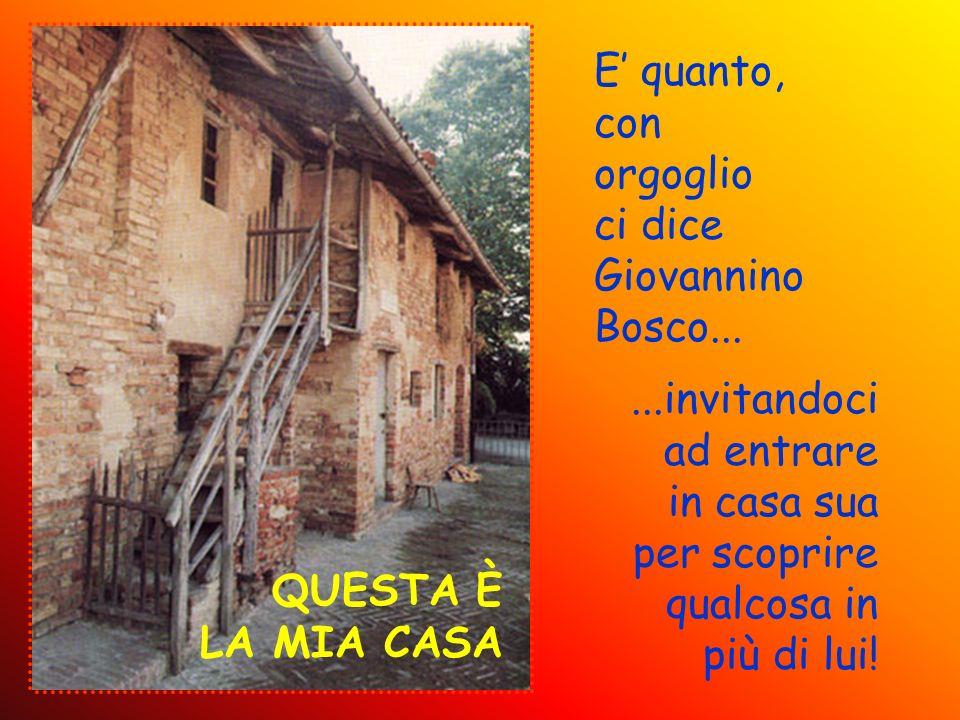 E' quanto, con orgoglio ci dice Giovannino Bosco... ...invitandoci ad entrare. in casa sua per scoprire qualcosa in più di lui!