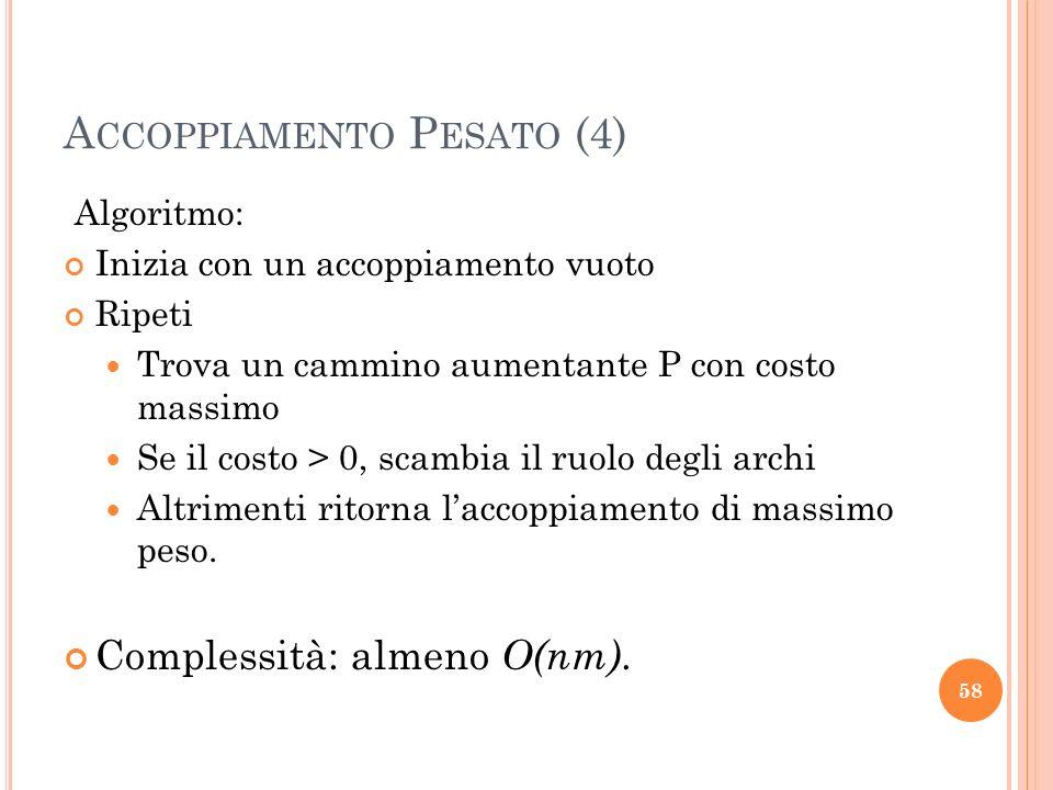 Accoppiamento Pesato (4)