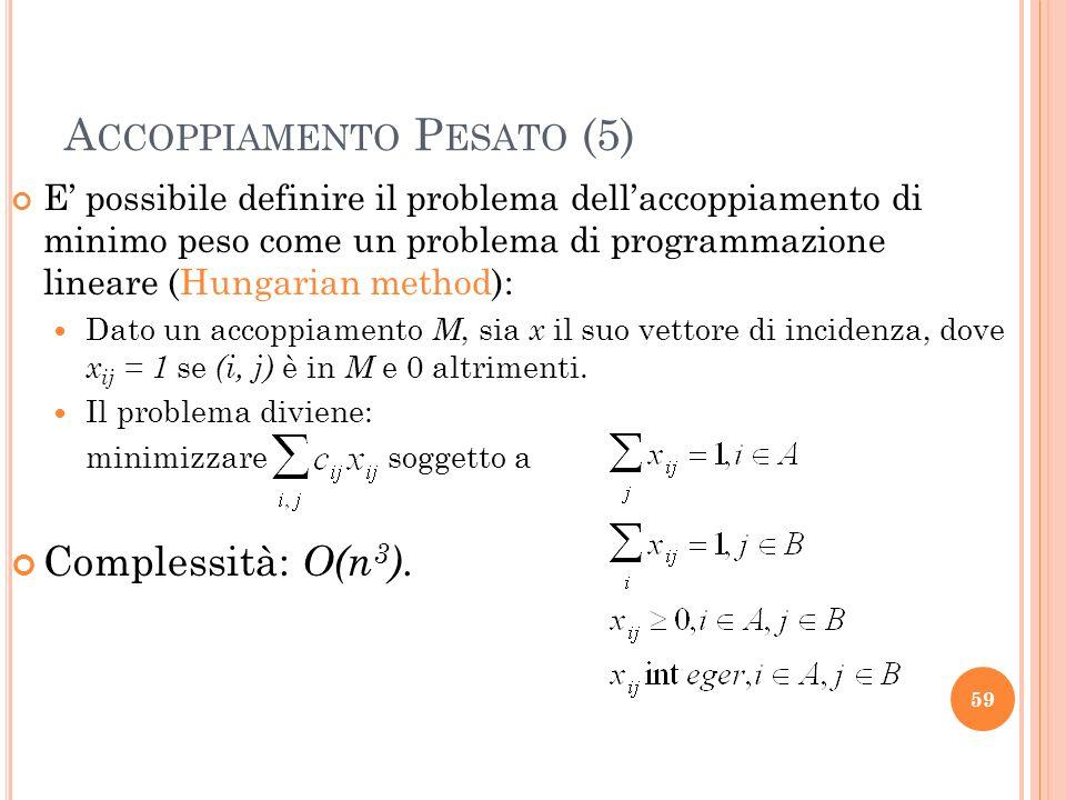 Accoppiamento Pesato (5)