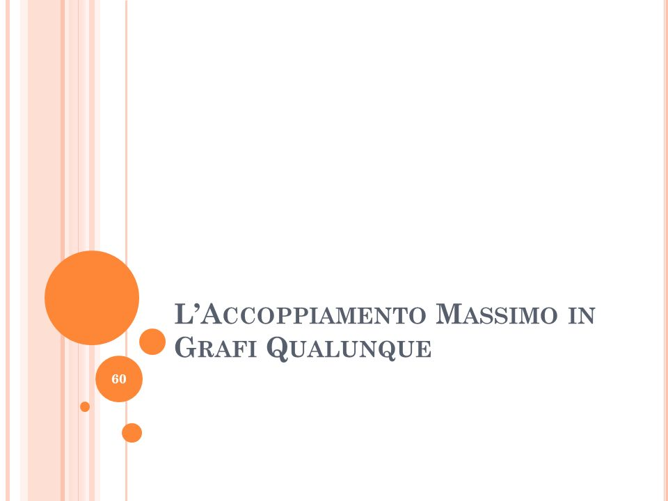 L'Accoppiamento Massimo in Grafi Qualunque