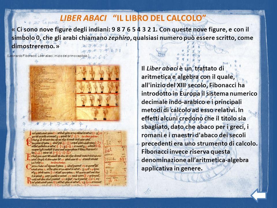 LIBER ABACI IL LIBRO DEL CALCOLO