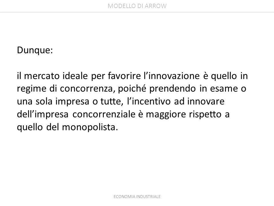 MODELLO DI ARROW