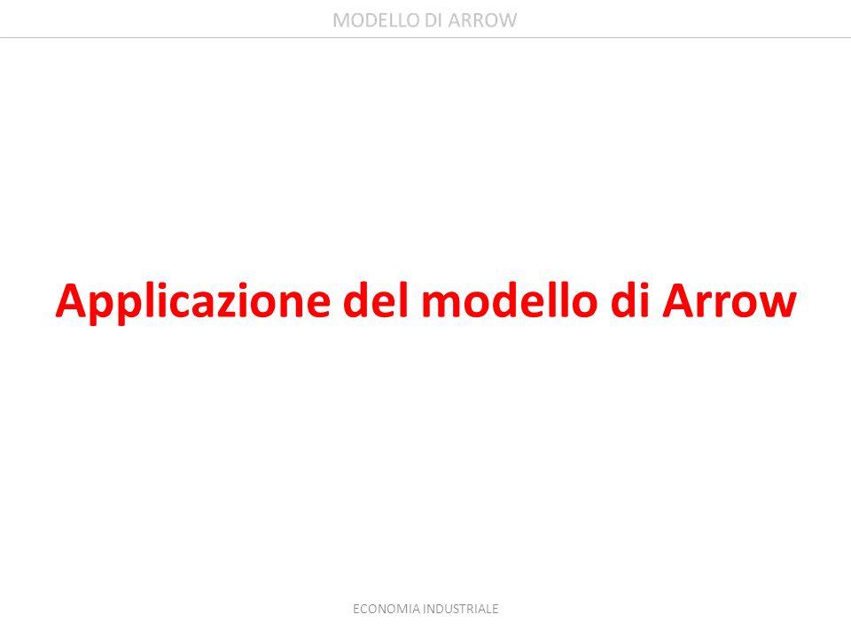 Applicazione del modello di Arrow