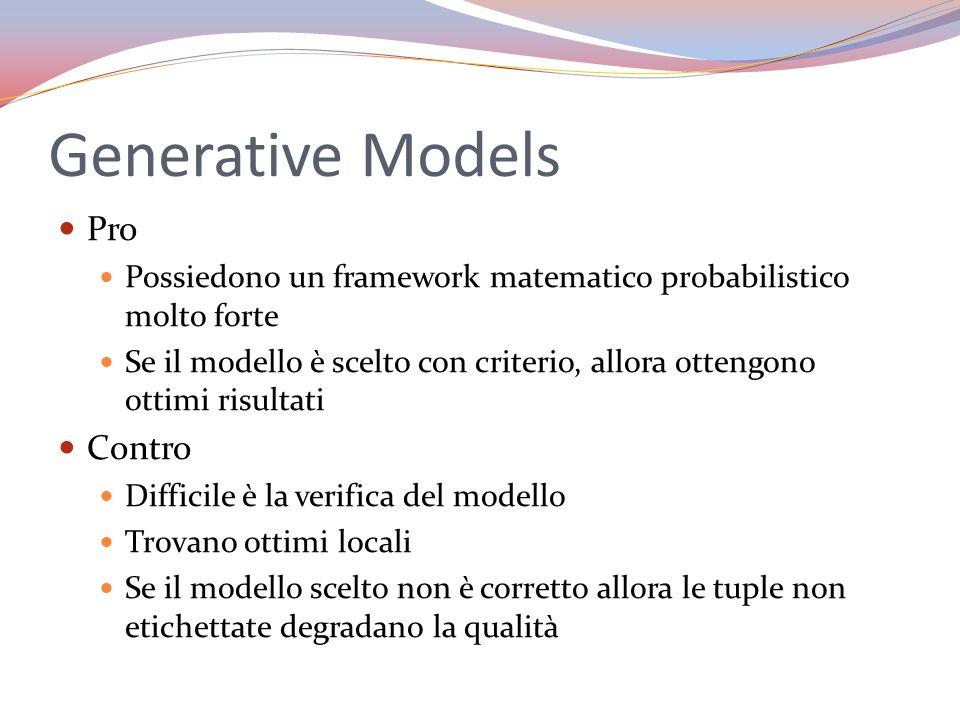 Generative Models Pro Contro