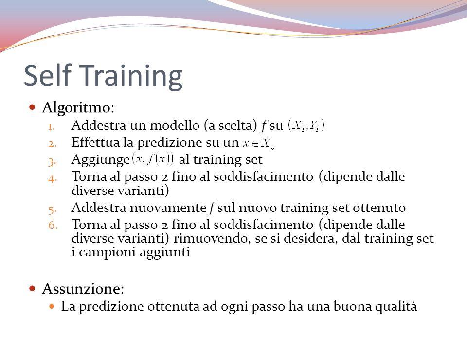 Self Training Algoritmo: Assunzione: