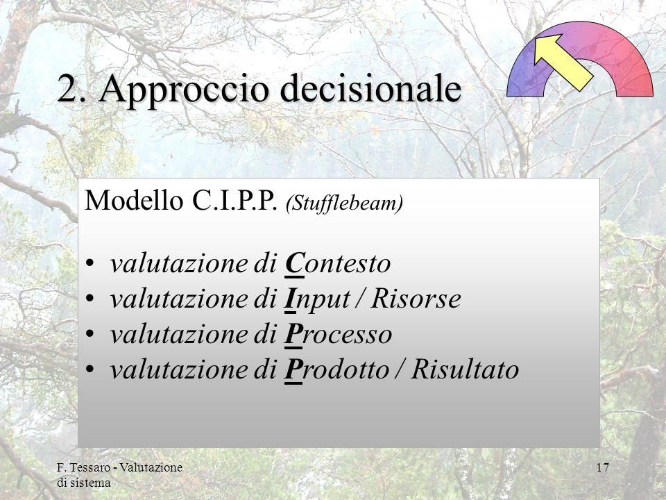 2. Approccio decisionale