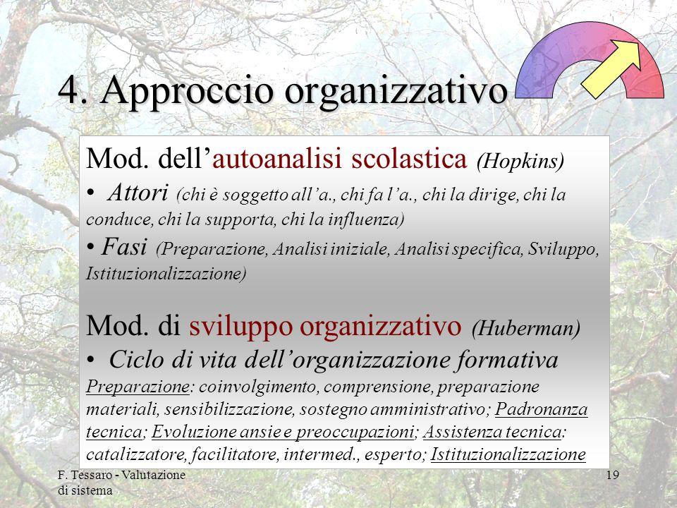 4. Approccio organizzativo