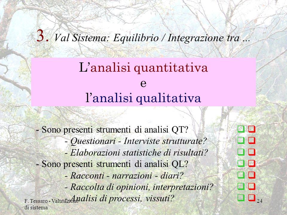3. Val Sistema: Equilibrio / Integrazione tra ...