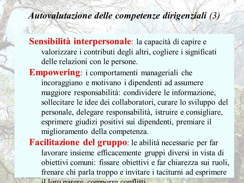 Autovalutazione delle competenze dirigenziali (3)