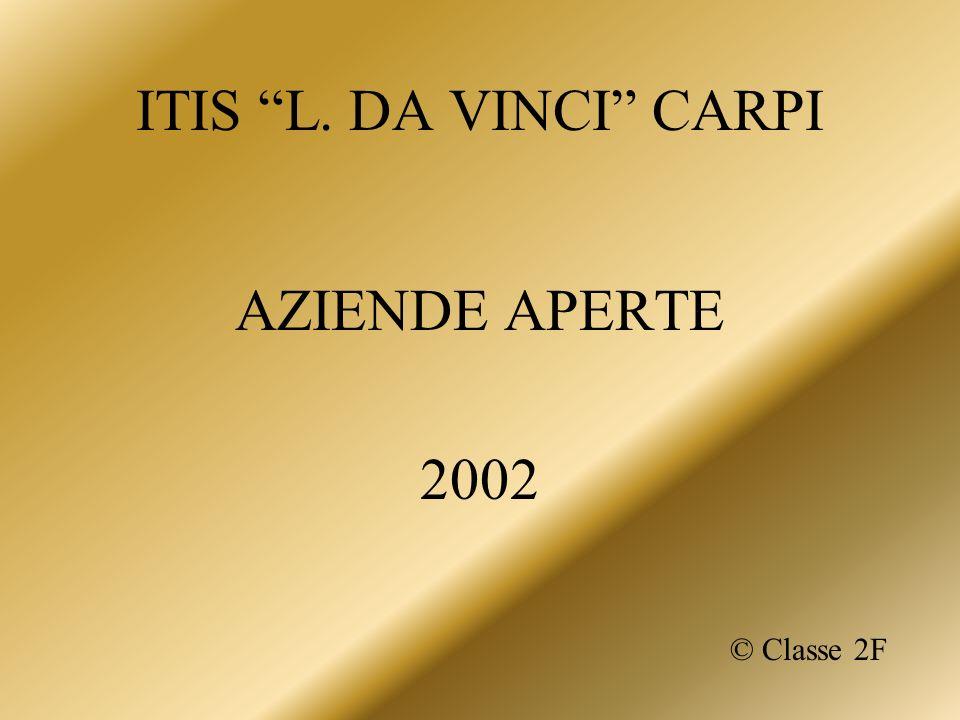 ITIS L. DA VINCI CARPI AZIENDE APERTE 2002 © Classe 2F