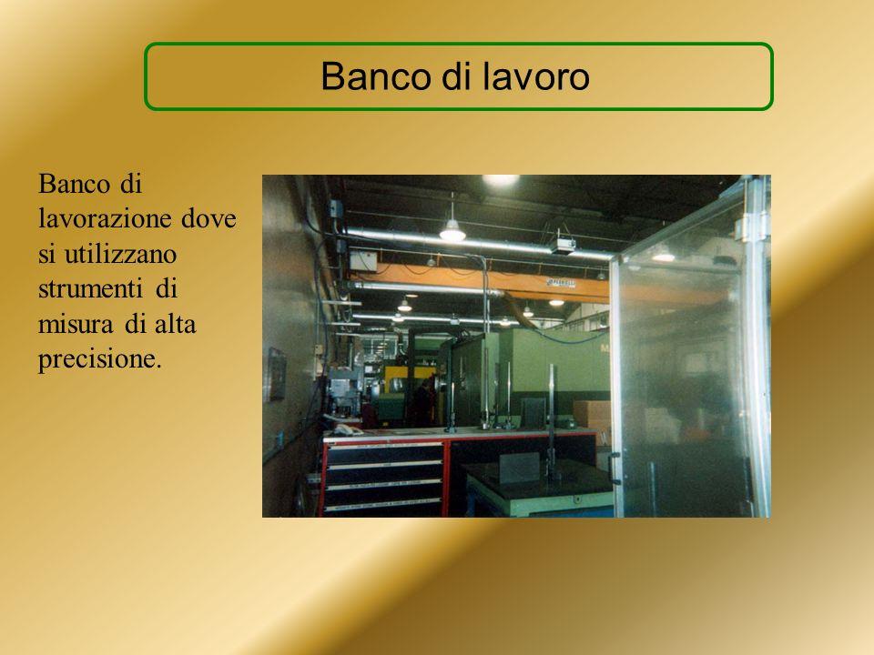 Banco di lavoro Banco di lavorazione dove si utilizzano strumenti di misura di alta precisione.