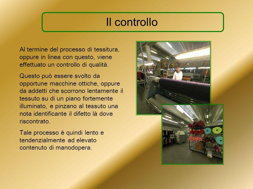 Il controllo Al termine del processo di tessitura, oppure in linea con questo, viene effettuato un controllo di qualità.