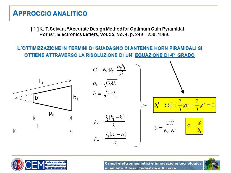 Approccio analitico