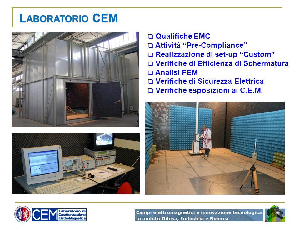 Laboratorio CEM Qualifiche EMC Attività Pre-Compliance