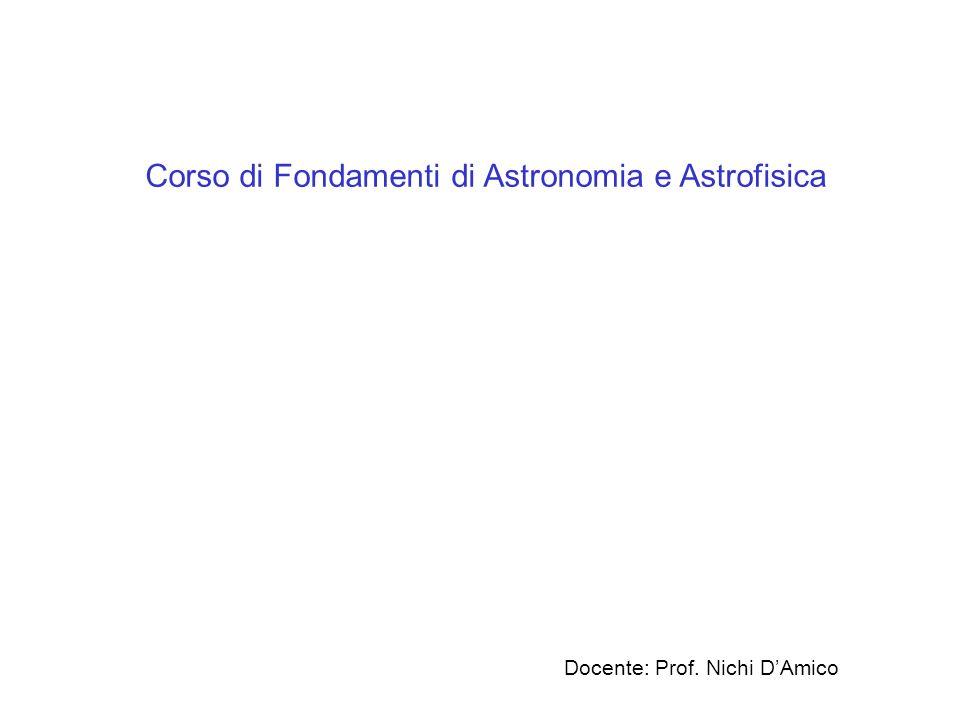 Corso di Fondamenti di Astronomia e Astrofisica
