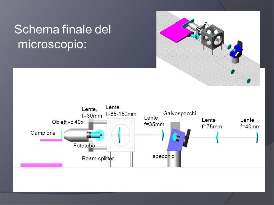 Schema finale del microscopio: