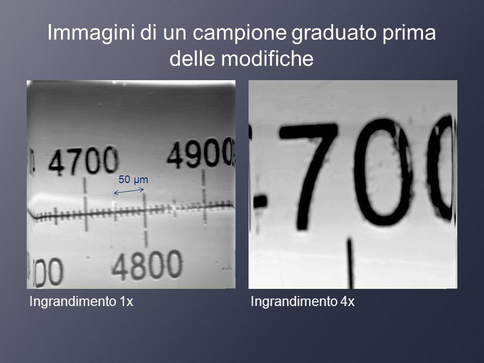 Immagini di un campione graduato prima delle modifiche