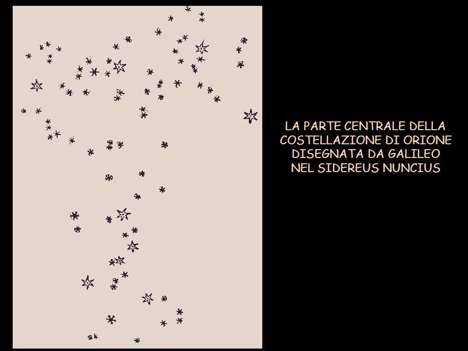 LA PARTE CENTRALE DELLA COSTELLAZIONE DI ORIONE DISEGNATA DA GALILEO NEL SIDEREUS NUNCIUS